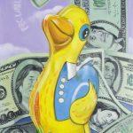 Im Geld schwimmen
